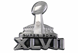 <BR>                AVAILABLE TO SHIP NOW!! <Br>        CADMIUM, LEAD & NICKEL FREE!!   <Br>W19937P - OFFICIAL SUPER BOWL XLVII   <BR>SCULPTED SILVER TONE LIMITED EDITION  <BR>LAPEL PIN WITH COLLECTOR'S CARD  <Br>           FROM $5.06 TO $11.25
