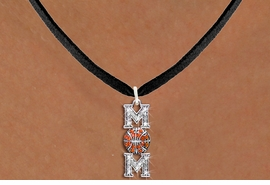 "<BR>  BASKETBALL MOM NECKLACE WHOLESALE <bR>                    EXCLUSIVELY OURS!! <Br>               AN ALLAN ROBIN DESIGN!! <BR>      CLICK HERE TO SEE 1000+ EXCITING <BR>            CHANGES THAT YOU CAN MAKE! <BR>         LEAD, NICKEL & CADMIUM FREE!! <BR>W1475SN - SILVER TONE BASKETBALL ""MOM"" <BR> CLEAR & ORANGE CRYSTAL CHARM NECKLACE <BR>             FROM $5.40 TO $9.85 �2013"