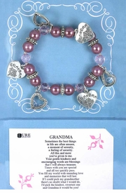 "<Br>             BEAUTIFULLY BOXED!!!<BR>W11248B - LEAD & NICKEL FREE!!<Br>""GRANDMA"" POEM CARD & FAUX<BR>    PEARL HEART CHARM STRETCH<Br>       BRACELET AS LOW AS $5.90"