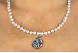 <BR>                       CATHOLIC JEWELRY<Br>                     LEAD & NICKEL FREE!! <Br>     W19450N - VIRGIN MARY AND CHILD <BR> CHARM ON 6MM PEARL BEAD NECKLACE <BR>            FROM $4.73 TO $10.50 �2012
