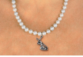 <BR>                       CATHOLIC JEWELRY<Br>                     LEAD & NICKEL FREE!! <Br>     W19456N - JESUS CARRYING CROSS <BR> CHARM ON 8MM PEARL BEAD NECKLACE <BR>            FROM $4.73 TO $10.50 �2012