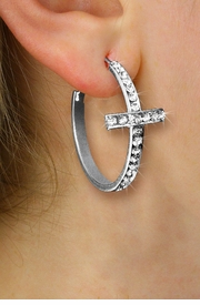 <br>    CHRISTIAN EARRINGS WHOLESALE<bR>       CADMIUM, LEAD & NICKEL FREE!! <BR>   W20447E - STYLISH SILVER TONE <BR>       AND CRYSTAL CROSS EARRINGS <BR>       FROM $4.50 TO $10.00 �2013