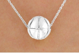 <BR>  CLICK HERE TO SEE 65+ EXCITING<BR>  ADDITIONS THAT YOU CAN MAKE!<BR>               LEAD & NICKEL FREE!!<Br>       W13197N - DETAILED SILVER<Br>TONE BASKETBALL NECKLACE<Br>                    AS LOW AS $3.35