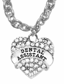 <BR>                 DENTAL ASSISTANT, GENUINE CRYSTAL HEART<br>             CABLE CHAIN NECKLACE, SAFE-HYPOALLERGENIC, <BR>NICKEL, LEAD, CADMIUM FREE, FROM $ 7.38 TO $10.38 �2016   <BR>                                                        W1770N1