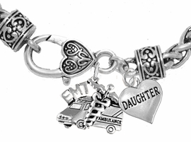 <BR>            EMT, DAUGHTER CHARM BRACELET<BR>                             AN ALLAN ROBIN DESIGN!! <Br>                         CADMIUM, LEAD & NICKEL FREE!!  <Br> W1530-1831B1 ON A WHEAT CHAIN BRACELET <BR>                              FROM $7.50 TO $9.50 �2016