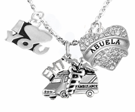 <BR>   EMT, I LOVE YOU ABUELA CRYSTAL CHARM NECKLACE<BR>                             AN ALLAN ROBIN DESIGN!! <Br>                         CADMIUM, LEAD & NICKEL FREE!!  <Br> W1530-380-1759N1 ON A CABLE CHAIN NECKLACE <BR>                              FROM $7.50 TO $9.50 �2016