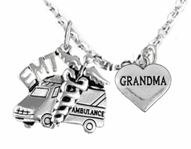 <BR>         EMT, I LOVE YOU GRANDMA CHARM NECKLACE<BR>                             AN ALLAN ROBIN DESIGN!! <Br>                         CADMIUM, LEAD & NICKEL FREE!!  <Br>             W1530-1832N1 ON A CABLE CHAIN NECKLACE <BR>                              FROM $7.50 TO $9.50 �2016