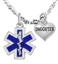 <BR>            EMT, I LOVE YOU DAUGHTER CHARM NECKLACE<BR>                             AN ALLAN ROBIN DESIGN!! <Br>                         CADMIUM, LEAD & NICKEL FREE!!  <Br>             W1496-1831N1 ON A CABLE CHAIN NECKLACE <BR>                              FROM $7.50 TO $9.50 �2016