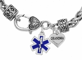 <BR>                          EMT, GRANDMA CHARM BRACELET<BR>                             AN ALLAN ROBIN DESIGN!! <Br>                         CADMIUM, LEAD & NICKEL FREE!!  <Br>             W14961832B1 ON A WHEAT CHAIN BRACELET <BR>                              FROM $7.50 TO $9.50 �2016