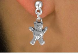 <bR>                 EXCLUSIVELY OURS!!<BR>           AN ALLAN ROBIN DESIGN!! <BR> ABSOLUTIELY LEAD & NICKEL FREE!! <BR>W848SE - DETAILED SILVER TONE <BR>TEDDY BEAR CHARM EARRINGS <BR>     FROM $4.50 TO $8.35 �2012