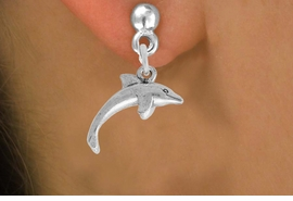 <bR>                 EXCLUSIVELY OURS!!<BR>           AN ALLAN ROBIN DESIGN!! <BR> ABSOLUTIELY LEAD & NICKEL FREE!! <BR>W852SE - DETAILED SILVER TONE <BR>SWIMMING DOLPHIN CHARM EARRINGS <BR>     FROM $4.50 TO $8.35 �2012