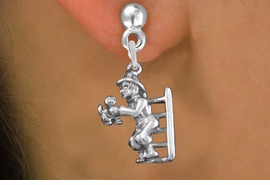 <bR>                 EXCLUSIVELY OURS!!<BR>           AN ALLAN ROBIN DESIGN!! <BR> CADMIUM, LEAD & NICKEL FREE!! <BR>W1348SE - ANTIQUED SILVER TONE <BR>FIREMAN ON LADDER CHARM EARRINGS <BR>     FROM $4.50 TO $8.35 �2012