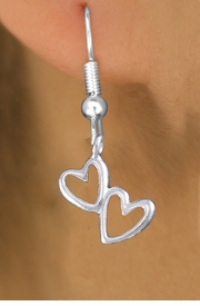 "<bR>                 EXCLUSIVELY OURS!!<BR>           AN ALLAN ROBIN DESIGN!! <BR> CADMIUM, LEAD & NICKEL FREE!! <BR>W1372SE - SMALL SILVER TONE <BR>""TRUE LOVE"" HEARTS CHARM EARRINGS <BR>     FROM $4.50 TO $8.35 �2012"