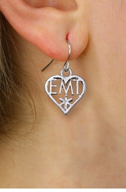 <bR>                 EXCLUSIVELY OURS!! <BR>            AN ALLAN ROBIN DESIGN!! <BR>      CADMIUM, LEAD & NICKEL FREE!! <BR> W1430SE - EMT HEART CHARM EARRINGS <BR>          FROM $4.50 TO $8.35 �2013