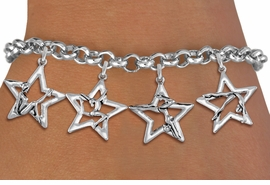 <bR>               EXCLUSIVELY OURS!!<BR>         AN ALLAN ROBIN DESIGN!!<BR>  CADMIUM,  LEAD & NICKEL FREE!! <BR>W19747B - SILVER TONE GYMNAST <BR>  POSED IN STAR 4 CHARM BRACELET <BR>     FROM $5.06 TO $11.25 �2012