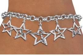 <bR>               EXCLUSIVELY OURS!!<BR>         AN ALLAN ROBIN DESIGN!!<BR>  CADMIUM,  LEAD & NICKEL FREE!! <BR>W19748B - SILVER TONE GYMNAST <BR>  POSED IN STAR 5 CHARM BRACELET <BR>     FROM $5.63 TO $12.50 �2012