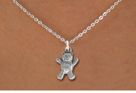 <bR>                EXCLUSIVELY OURS!!<BR>          AN ALLAN ROBIN DESIGN!!<BR> CLICK HERE TO SEE 1000+ EXCITING<BR>    CHANGES THAT YOU CAN MAKE!<BR> ABSOLUTELY LEAD & NICKEL FREE!! <BR>  W848SN - DETAILED SILVER TONE <BR> TEDDY BEAR CHARM & NECKLACE <BR>     FROM $4.50 TO $8.35 �2012