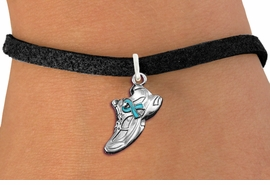 <bR>                     EXCLUSIVELY OURS!!<BR>               AN ALLAN ROBIN DESIGN!!<BR>      CLICK HERE TO SEE 1000+ EXCITING<BR>         CHANGES THAT YOU CAN MAKE!<BR>        CADMIUM,  LEAD & NICKEL FREE!! <BR>W1304SB - SILVER TONE SNEAKER <BR>TEAL RIBBON CHARM BRACELET <BR>           FROM $4.15 TO $8.00 �2012