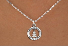 "<bR>                 EXCLUSIVELY OURS!!<BR>           AN ALLAN ROBIN DESIGN!!<BR>  CLICK HERE TO SEE 1000+ EXCITING<BR>     CHANGES THAT YOU CAN MAKE!<BR> CADMIUM, LEAD & NICKEL FREE!! <BR>W1314SN - ROUND SILVER TONE <BR>""JESUS IS THE REASON"" CHRISTMAS CHARM <BR>& NECKLACE FROM $4.50 TO $8.35 �2012"