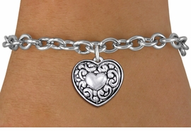 <bR>                 EXCLUSIVELY OURS!!<BR>           AN ALLAN ROBIN DESIGN!!<BR>  CLICK HERE TO SEE 1000+ EXCITING<BR>     CHANGES THAT YOU CAN MAKE!<BR> CADMIUM, LEAD & NICKEL FREE!! <BR>W1320SB - ANTIQUED SILVER TONE <BR>SCRIPT HEART CHARM & BRACELET <BR>        FROM $4.15 TO $8.00 �2012