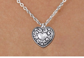 <bR>                 EXCLUSIVELY OURS!!<BR>           AN ALLAN ROBIN DESIGN!!<BR>  CLICK HERE TO SEE 1000+ EXCITING<BR>     CHANGES THAT YOU CAN MAKE!<BR> CADMIUM, LEAD & NICKEL FREE!! <BR>W1320SN - ANTIQUED SILVER TONE <BR>SCRIPT HEART CHARM & CHILDS <BR>NECKLACE FROM $4.50 TO $8.35 �2012