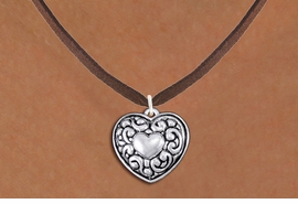 <bR>                 EXCLUSIVELY OURS!!<BR>           AN ALLAN ROBIN DESIGN!!<BR>  CLICK HERE TO SEE 1000+ EXCITING<BR>     CHANGES THAT YOU CAN MAKE!<BR> CADMIUM, LEAD & NICKEL FREE!! <BR>W1320SN - ANTIQUED SILVER TONE <BR>SCRIPT HEART CHARM & NECKLACE <BR>   FROM $4.50 TO $8.35 �2012