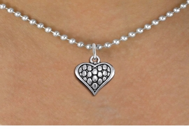 <bR>                 EXCLUSIVELY OURS!!<BR>           AN ALLAN ROBIN DESIGN!!<BR>  CLICK HERE TO SEE 1000+ EXCITING<BR>     CHANGES THAT YOU CAN MAKE!<BR> CADMIUM, LEAD & NICKEL FREE!! <BR>W1322SN - ANTIQUED SILVER TONE <BR>SCRIPT HEART CHARM & NECKLACE <BR>   FROM $4.50 TO $8.35 �2012