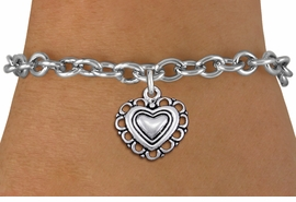 <bR>                 EXCLUSIVELY OURS!!<BR>           AN ALLAN ROBIN DESIGN!!<BR>  CLICK HERE TO SEE 1000+ EXCITING<BR>     CHANGES THAT YOU CAN MAKE!<BR> CADMIUM, LEAD & NICKEL FREE!! <BR>W1324SB - ANTIQUED SILVER TONE <BR>SCRIPT HEART CHARM & BRACELET <BR>        FROM $4.15 TO $8.00 �2012