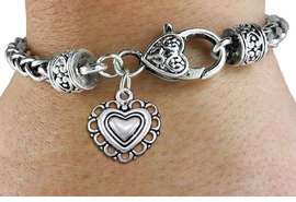 <bR>                 EXCLUSIVELY OURS!!<BR>           AN ALLAN ROBIN DESIGN!!<BR>  CLICK HERE TO SEE 1000+ EXCITING<BR>     CHANGES THAT YOU CAN MAKE!<BR> CADMIUM, LEAD & NICKEL FREE!! <BR>W1324SB - ANTIQUED SILVER TONE <BR>SCRIPT HEART CHARM & HEART CLASP <BR>BRACELET FROM $3.94 TO $8.75 �2012
