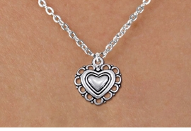 <bR>                EXCLUSIVELY OURS!!<BR>          AN ALLAN ROBIN DESIGN!!<BR> CLICK HERE TO SEE 1000+ EXCITING<BR>    CHANGES THAT YOU CAN MAKE!<BR>CADMIUM, LEAD & NICKEL FREE!! <BR> W1324SN - ANTIQUED SILVER TONE <BR>SCRIPT HEART CHARM & CHILDS <BR>NECKLACE FROM $4.50 TO $8.35 �2012