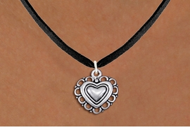 <bR>                EXCLUSIVELY OURS!!<BR>          AN ALLAN ROBIN DESIGN!!<BR> CLICK HERE TO SEE 1000+ EXCITING<BR>    CHANGES THAT YOU CAN MAKE!<BR>CADMIUM, LEAD & NICKEL FREE!! <BR> W1324SN - ANTIQUED SILVER TONE <BR>SCRIPT HEART CHARM & NECKLACE <BR>     FROM $4.50 TO $8.35 �2012