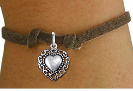 <bR>                 EXCLUSIVELY OURS!!<BR>           AN ALLAN ROBIN DESIGN!!<BR>  CLICK HERE TO SEE 1000+ EXCITING<BR>     CHANGES THAT YOU CAN MAKE!<BR> CADMIUM, LEAD & NICKEL FREE!! <BR>W1325SB - ANTIQUED SILVER TONE <BR>SCRIPT HEART CHARM & CHILDS <BR>BRACELET FROM $4.15 TO $8.00 �2012