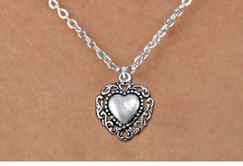 <bR>                EXCLUSIVELY OURS!!<BR>          AN ALLAN ROBIN DESIGN!!<BR> CLICK HERE TO SEE 1000+ EXCITING<BR>    CHANGES THAT YOU CAN MAKE!<BR>CADMIUM, LEAD & NICKEL FREE!! <BR> W1325SN - ANTIQUED SILVER TONE <BR>SCRIPT HEART CHARM & CHILDS <BR>NECKLACE FROM $4.50 TO $8.35 �2012