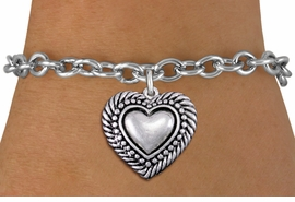 <bR>                 EXCLUSIVELY OURS!!<BR>           AN ALLAN ROBIN DESIGN!!<BR>  CLICK HERE TO SEE 1000+ EXCITING<BR>     CHANGES THAT YOU CAN MAKE!<BR> CADMIUM, LEAD & NICKEL FREE!! <BR>W1326SB - ANTIQUED SILVER TONE <BR>SCRIPT HEART CHARM & BRACELET <BR>        FROM $4.15 TO $8.00 �2012