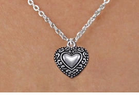 <bR>                EXCLUSIVELY OURS!!<BR>          AN ALLAN ROBIN DESIGN!!<BR> CLICK HERE TO SEE 1000+ EXCITING<BR>    CHANGES THAT YOU CAN MAKE!<BR>CADMIUM, LEAD & NICKEL FREE!! <BR> W1327SN - ANTIQUED SILVER TONE <BR>SCRIPT HEART & CHILD'S NECKLACE <BR>     FROM $4.50 TO $8.35 �2012