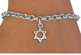 <bR>                 EXCLUSIVELY OURS!!<BR>           AN ALLAN ROBIN DESIGN!!<BR>  CLICK HERE TO SEE 1000+ EXCITING<BR>     CHANGES THAT YOU CAN MAKE!<BR> CADMIUM, LEAD & NICKEL FREE!! <BR>W1330SB - SMALL SILVER TONE <BR>STAR OF DAVID CHARM & BRACELET <BR>        FROM $4.15 TO $8.00 �2012