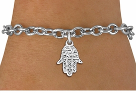 "<bR>                 EXCLUSIVELY OURS!!<BR>           AN ALLAN ROBIN DESIGN!!<BR>  CLICK HERE TO SEE 1000+ EXCITING<BR>     CHANGES THAT YOU CAN MAKE!<BR> CADMIUM, LEAD & NICKEL FREE!! <BR>W1331SB - SMALL SILVER TONE HAMSA <BR>""GOOD LUCK"" CHARM & BRACELET <BR>        FROM $4.15 TO $8.00 �2012"