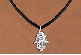 "<bR>                EXCLUSIVELY OURS!!<BR>          AN ALLAN ROBIN DESIGN!!<BR> CLICK HERE TO SEE 1000+ EXCITING<BR>    CHANGES THAT YOU CAN MAKE!<BR>CADMIUM, LEAD & NICKEL FREE!! <BR>W1331SN - SMALL SILVER TONE HAMSA <BR>""GOOD LUCK"" CHARM & NECKLACE <BR>     FROM $4.50 TO $8.35 �2012"
