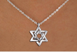 <bR>                EXCLUSIVELY OURS!!<BR>          AN ALLAN ROBIN DESIGN!!<BR> CLICK HERE TO SEE 1000+ EXCITING<BR>    CHANGES THAT YOU CAN MAKE!<BR>CADMIUM, LEAD & NICKEL FREE!! <BR>W1332SN - SILVER TONE DOUBLE <BR>STAR OF DAVID CHARM & NECKLACE <BR>     FROM $4.50 TO $8.35 �2012