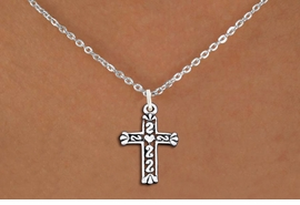 <bR>                EXCLUSIVELY OURS!!<BR>          AN ALLAN ROBIN DESIGN!!<BR> CLICK HERE TO SEE 1000+ EXCITING<BR>    CHANGES THAT YOU CAN MAKE!<BR>CADMIUM, LEAD & NICKEL FREE!! <BR> W1341SN - ANTIQUED SILVER TONE <BR>SCRIPT CROSS CHARM & NECKLACE <BR>     FROM $4.50 TO $8.35 �2012