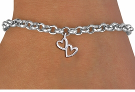 "<bR>                 EXCLUSIVELY OURS!!<BR>           AN ALLAN ROBIN DESIGN!!<BR>  CLICK HERE TO SEE 1000+ EXCITING<BR>     CHANGES THAT YOU CAN MAKE!<BR> CADMIUM, LEAD & NICKEL FREE!! <BR >W1372SB - SMALL SILVER TONE <BR>""TRUE LOVE"" HEART CHARM & BRACELET <BR>        FROM $4.15 TO $8.00 �2012"