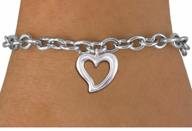 <bR>                 EXCLUSIVELY OURS!!<BR>           AN ALLAN ROBIN DESIGN!!<BR>  CLICK HERE TO SEE 1000+ EXCITING<BR>     CHANGES THAT YOU CAN MAKE!<BR> CADMIUM, LEAD & NICKEL FREE!! <BR >W1374SB - LARGE SILVER TONE <BR> OPEN HEART CHARM & BRACELET <BR>        FROM $4.15 TO $8.00 �2012