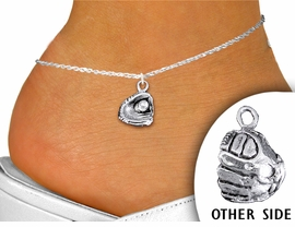 <bR>               EXCLUSIVELY OURS!!<BR>          AN ALLAN ROBIN DESIGN!!<BR> CLICK HERE TO SEE 1000+ EXCITING<BR>       CHANGES THAT YOU CAN MAKE!<BR>    CADMIUM, LEAD & NICKEL FREE!!<BR> W1406SAK - DETAILED SILVER TONE <Br>BASEBALL / SOFTBALL MITT CHARM  <BR> & ANKLET FROM $3.35 TO $8.00 �2013