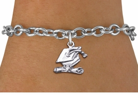 <bR>                  EXCLUSIVELY OURS!! <BR>             AN ALLAN ROBIN DESIGN!! <BR>    CLICK HERE TO SEE 1000+ EXCITING <BR>          CHANGES THAT YOU CAN MAKE! <BR>       CADMIUM, LEAD & NICKEL FREE!! <BR>    W1431SB - SILVER TONE GRADUATION <BR>    CAP AND DIPLOMA CHARM & BRACELET <BR>           FROM $4.15 TO $8.00 �2013