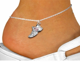 <bR>                 EXCLUSIVELY OURS!!<BR>           AN ALLAN ROBIN DESIGN!!<BR>  CLICK HERE TO SEE 1000+ EXCITING<BR>     CHANGES THAT YOU CAN MAKE!<BR> CADMIUM, LEAD & NICKEL FREE!! <BR>W312SAK - SILVER TONE SNEAKER WITH <BR> PINK RIBBON CHARM  & ANKLET <BR>         FROM $3.35 TO $8.00 �2012