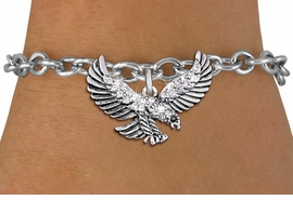 <bR>               EXCLUSIVELY OURS!!<Br>         AN ALLAN ROBIN DESIGN!! <BR>CLICK HERE TO SEE 1000+ EXCITING <BR>   CHANGES THAT YOU CAN MAKE!<BR>   LEAD, NICKEL & CADMIUM FREE!! <BR>W1319SB - DETAILED FLYING EAGLE <BR>     CRYSTAL CHARM & BRACELET <BR>     FROM $5.40 TO $9.85 �2012
