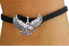 <bR>               EXCLUSIVELY OURS!!<Br>         AN ALLAN ROBIN DESIGN!! <BR>CLICK HERE TO SEE 1000+ EXCITING <BR>   CHANGES THAT YOU CAN MAKE!<BR>   LEAD, NICKEL & CADMIUM FREE!! <BR>W1319SB - DETAILED FLYING EAGLE <BR>CRYSTAL CHARM & CHILD'S BRACELET <BR>     FROM $5.40 TO $9.85 �2012