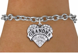 "<bR>                   EXCLUSIVELY OURS!!<Br>             AN ALLAN ROBIN DESIGN!!<BR>    CLICK HERE TO SEE 1000+ EXCITING<BR>       CHANGES THAT YOU CAN MAKE!<BR>       LEAD, NICKEL & CADMIUM FREE!!<BR>W1343SB - AUSTRIAN CRYSTAL ""GRANDMA"" <BR>              HEART CHARM & BRACELET <BR>           FROM $5.40 TO $9.85 �2012"