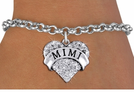 "<bR>                   EXCLUSIVELY OURS!!<Br>             AN ALLAN ROBIN DESIGN!!<BR>    CLICK HERE TO SEE 1000+ EXCITING<BR>       CHANGES THAT YOU CAN MAKE!<BR>       LEAD, NICKEL & CADMIUM FREE!!<BR>W1344SB - AUSTRIAN CRYSTAL ""MIMI"" <BR>              HEART CHARM & BRACELET <BR>           FROM $5.40 TO $9.85 �2012"