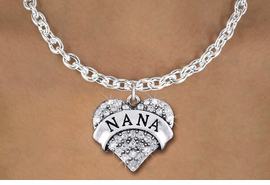 "<bR>                  EXCLUSIVELY OURS!!<Br>            AN ALLAN ROBIN DESIGN!!<BR>   CLICK HERE TO SEE 1000+ EXCITING<BR>      CHANGES THAT YOU CAN MAKE!<BR>     LEAD, NICKEL & CADMIUM FREE!!<BR>W1345SN - AUSTRIAN CRYSTAL ""NANA"" <BR>          HEART CHARM & NECKLACE <BR>         FROM $5.40 TO $9.85 �2012"